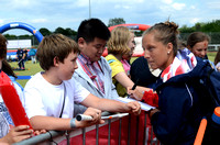 A USA player signs for fans